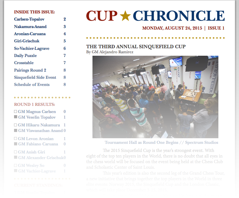 Cup Chronicle Sample