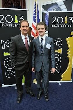 IM Kayden Troff and Utah Representative Chris Stewart meet at an event in Washington D.C. on Washington 18.