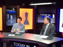 Alejandro Ramirez and Yasser Seirawan prep for another day on Today in Chess